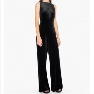 American Apparel Black Velvet Jumpsuit